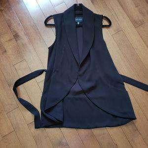black overpiece dressy vest
